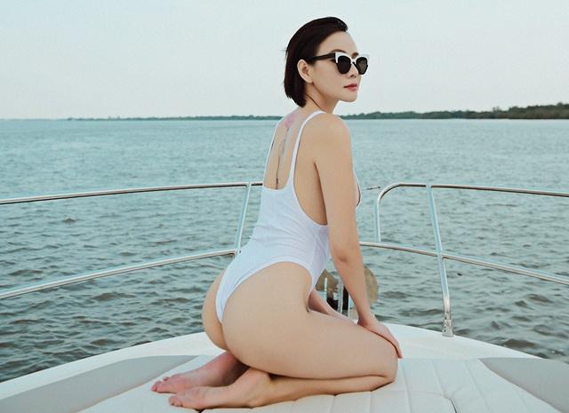 Dương Yến Ngọc diện bikini táo bạo, khoe vóc dáng gợi cảm tuổi 40 - 7