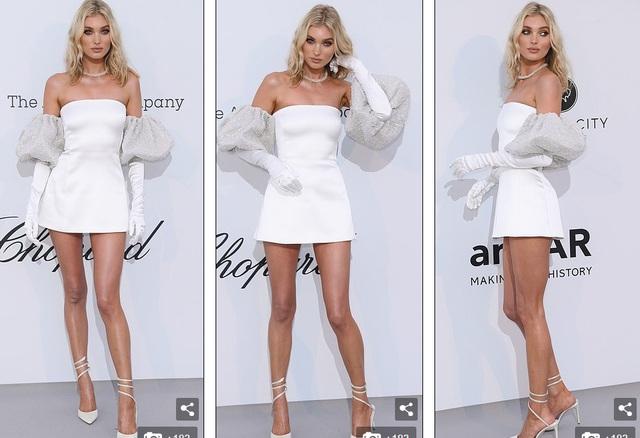 Thiên thần nội y Elsa Hosk diện váy ngắn khoe chân dài - 1