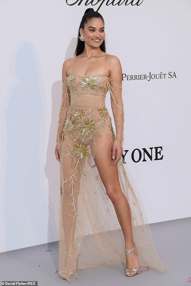 Siêu mẫu Úc Shanina Shaik diện váy hở bạo - 5