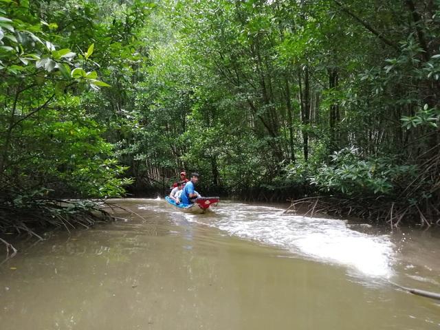 """Canô """"xẻ"""" nước, vỏ máy bồng bềnh xuyên rừng Mũi Cà Mau - 5"""