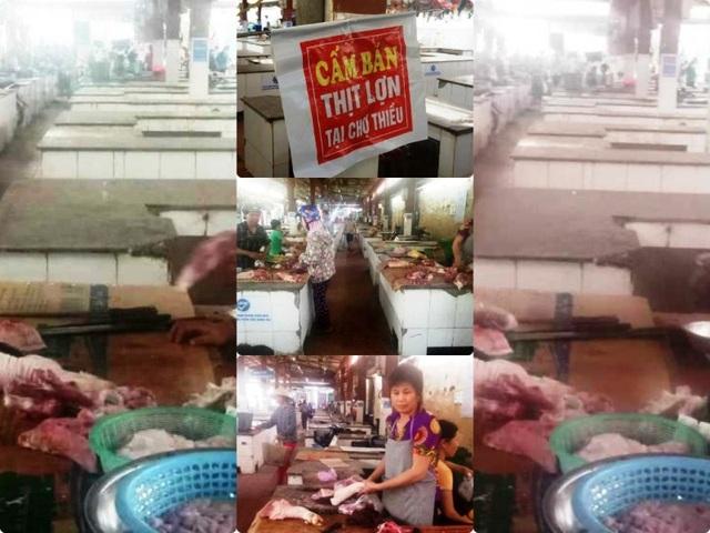 """Hàng trăm sạp thịt lợn """"gác thớt"""": Chỉ được phép tiêu thụ trong vùng dịch - 1"""