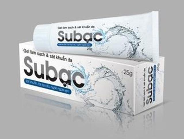 Công dụng của gel làm sạch và sát khuẩn da Subạc - 1