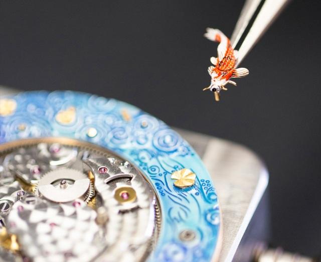 Jaquet Droz đưa bức hoạ động đầm sen lên đồng hồ Magic Lotus Automaton - 2