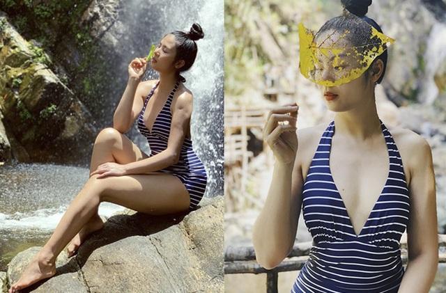 Hoa hậu Ngọc Hân, Thúy Ngân, Phạm Quỳnh Anh khoe dáng trong trang phục áo tắm chào hè - 1