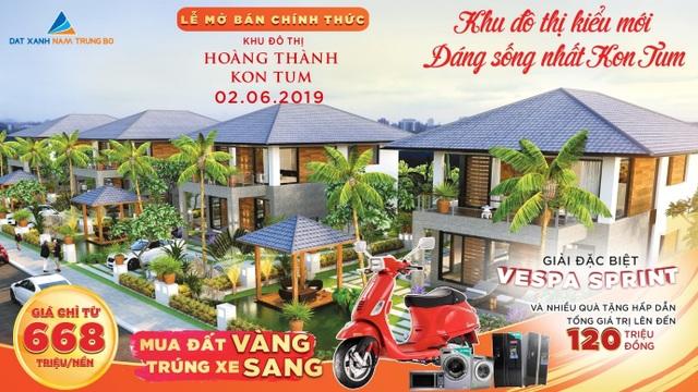 Mở bán chính thức KĐT Hoàng Thành Kon Tum: Tưng bừng quà tặng - 1