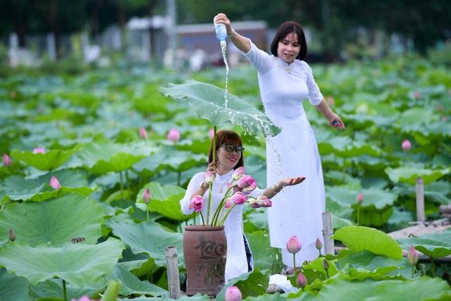 Thiếu nữ Hà Thành thả dáng bên đầm sen hồ Tây - 8