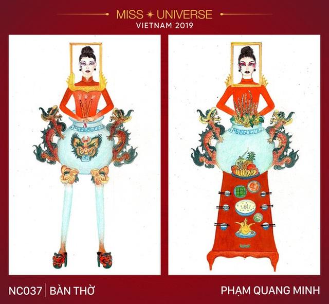 """Thiết kế trang phục """"Bàn thờ"""" cho cuộc thi Hoa hậu Hoàn vũ gây tranh cãi gay gắt - 1"""