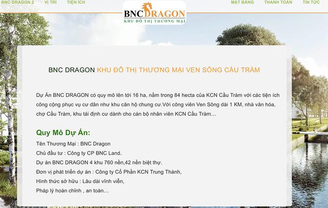 Chưa được cấp phép, dự án BNC Dragon đã rao bán rầm rộ - 2