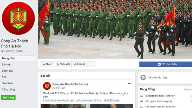 Công an Hà Nội tiếp nhận thông tin về an ninh trật tự qua Facebook - 1