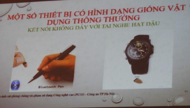 Tuyển sinh lớp 10 Hà Nội: Cảnh báo thiết bị chụp đề thi nhỏ như cúc áo - 3