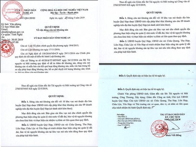 10 khu vực mỏ khoáng sản chính thức bị đóng cửa tại Nghệ An - 1