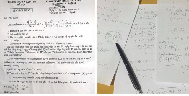 """Tuyển sinh lớp 10 Hà Nội: PGS. TS cũng """"ù đầu"""" với câu V đề Toán - 2"""