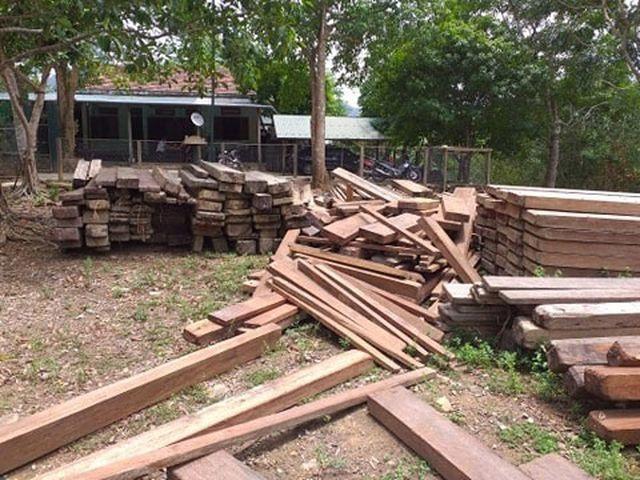 Xác minh nguồn gốc số gỗ cất giấu trong trụ sở UBND xã - 1