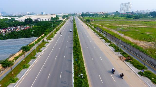 Đường 8 làn xe mới hoàn thành ở cửa ngõ Tây Bắc Hà Nội - 2
