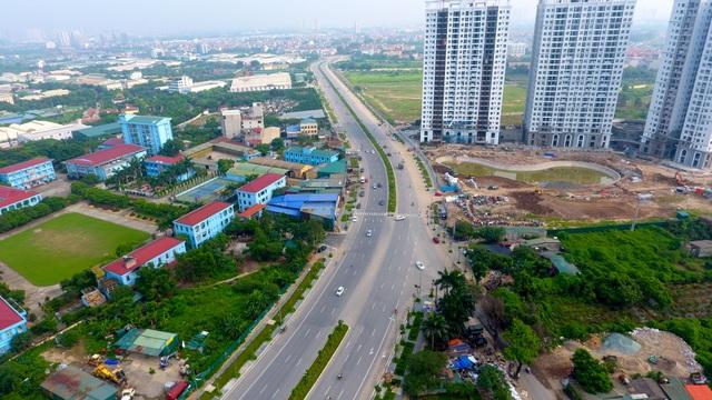 Đường 8 làn xe mới hoàn thành ở cửa ngõ Tây Bắc Hà Nội - 1