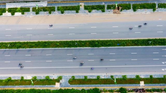 Đường 8 làn xe mới hoàn thành ở cửa ngõ Tây Bắc Hà Nội - 3