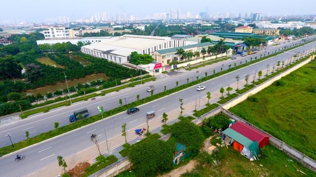 Đường 8 làn xe mới hoàn thành ở cửa ngõ Tây Bắc Hà Nội - 4