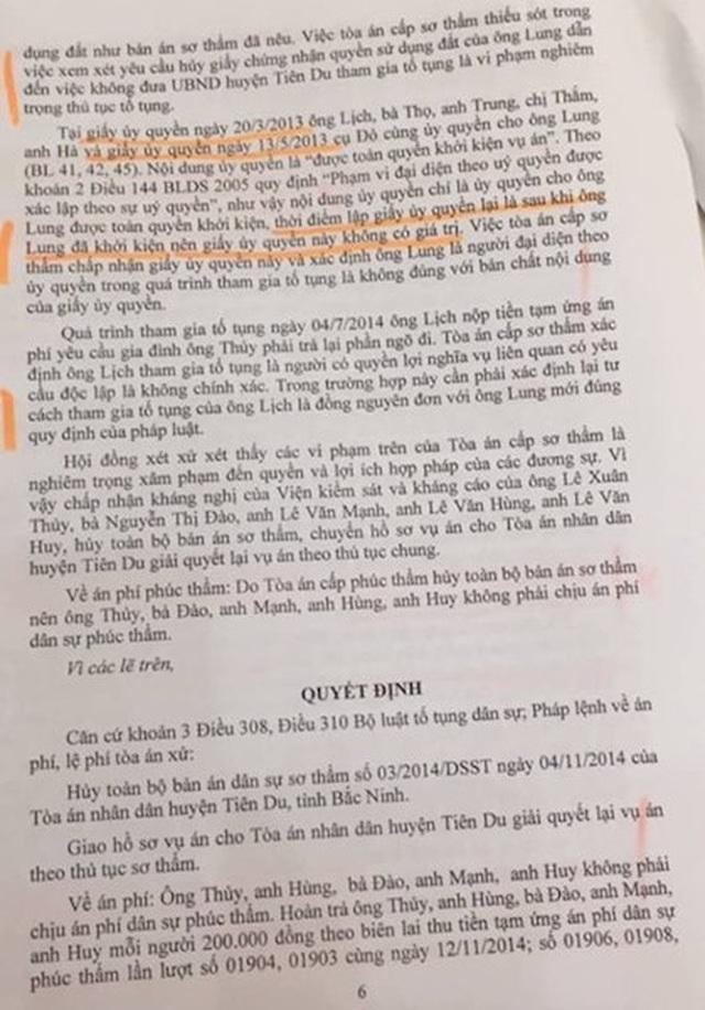 """Bắc Ninh: Toà án, chính quyền """"vênh"""" quan điểm, người dân lĩnh đủ! - 4"""