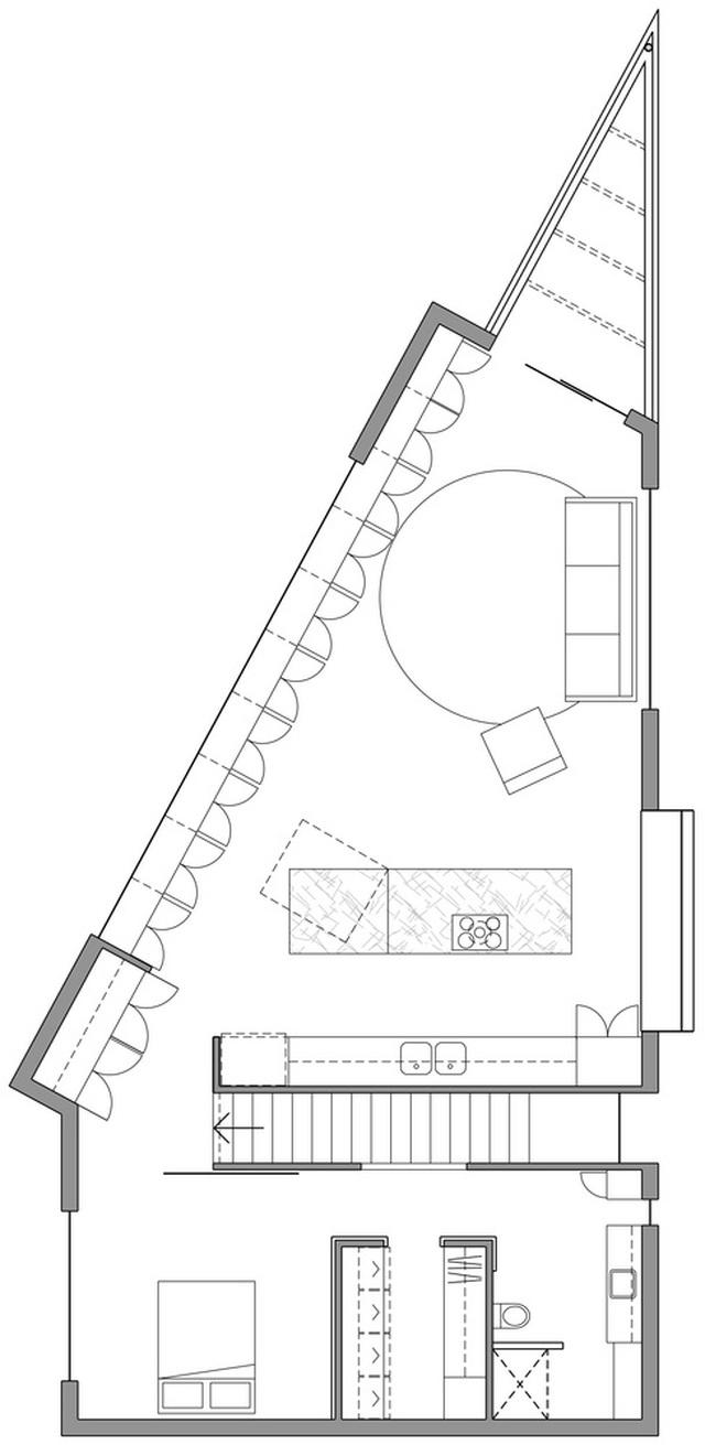 Xây nhà trên đất hình tam giác, kiến trúc sư vẫn tạo ra tác phẩm vạn người mê! - 11