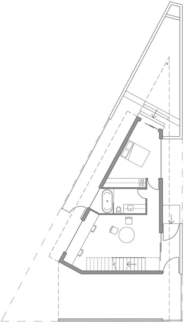 Xây nhà trên đất hình tam giác, kiến trúc sư vẫn tạo ra tác phẩm vạn người mê! - 6