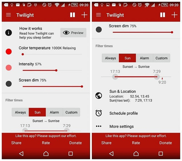 Những ứng dụng bảo vệ mắt khi dùng điện thoại, máy tính vào ban đêm - 5