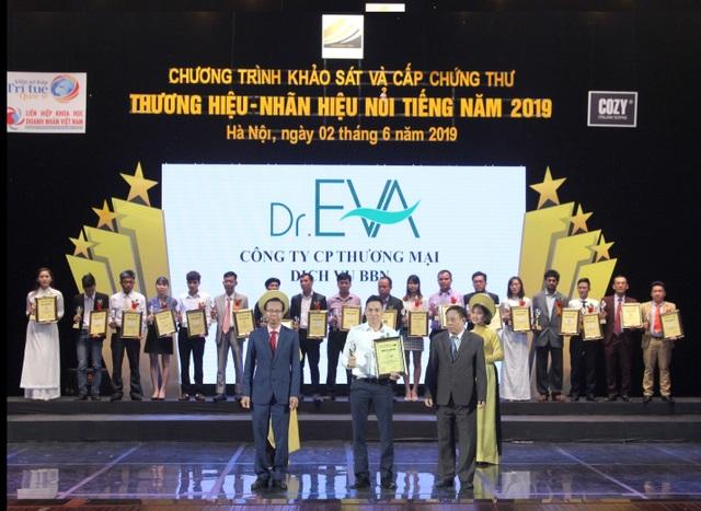 Sản phẩm Dr.Eva vinh dự nhận giải thưởng Thương hiệu - Nhãn hiệu nổi tiếng 2019 - 1