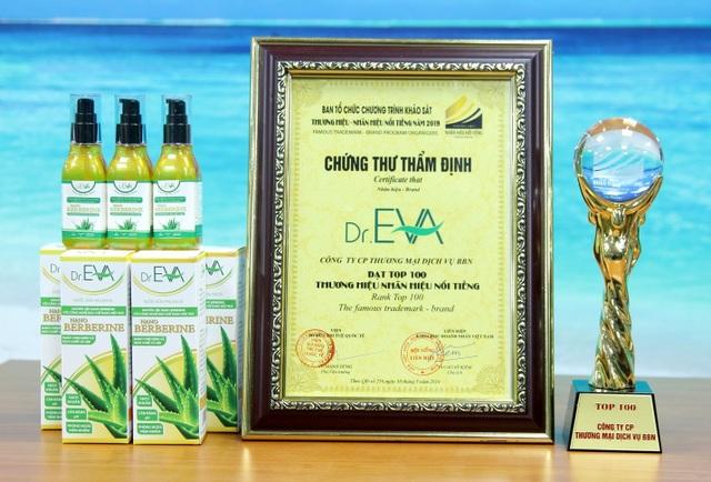 Sản phẩm Dr.Eva vinh dự nhận giải thưởng Thương hiệu - Nhãn hiệu nổi tiếng 2019 - 2