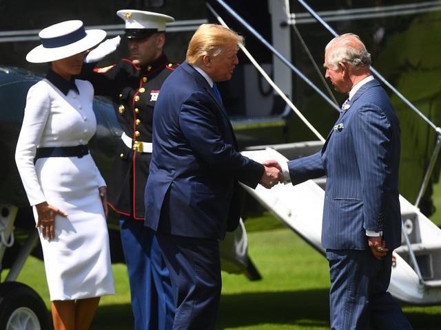 Tổng thống Trump gây tranh cãi khi không cúi đầu chào Thái tử Anh - 1