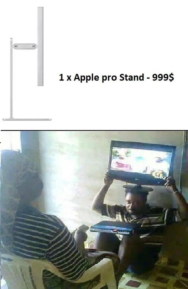 """Dân mạng chế ảnh châm biếm mức giá """"điên rồ"""" của chân đế màn hình Apple - 16"""