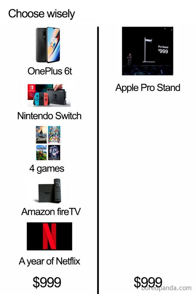 """Dân mạng chế ảnh châm biếm mức giá """"điên rồ"""" của chân đế màn hình Apple - 3"""