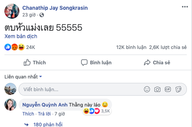 Bạn gái cầu thủ Duy Mạnh gay gắt khi cầu thủ Thái Lan khiêu khích trên Facebook - 3