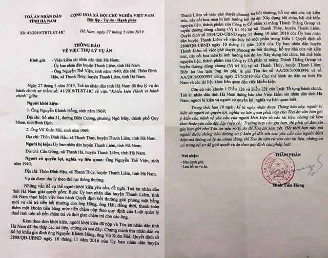 Vụ dân kiện quyết định của UBND huyện: Chốt phương án cuối vào chiều ngày 7/6! - 2