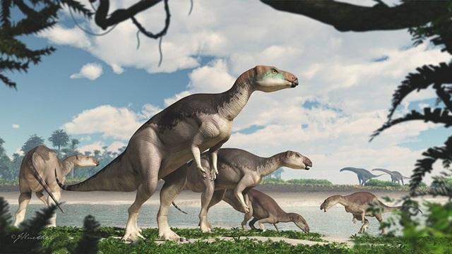 Phát hiện hoá thạch của một đàn khủng long cực hiếm - 1