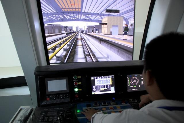 Lái tàu Cát Linh - Hà Đông trên mô hình để tập xử lý sự cố - 3