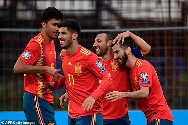 Tây Ban Nha duy trì mạch toàn thắng ở vòng loại Euro 2020 - 1