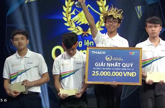 Nguyễn Bá Vinh: Nam sinh Cần Thơ chiếm 3 kỷ lục Olympia 19 - 3