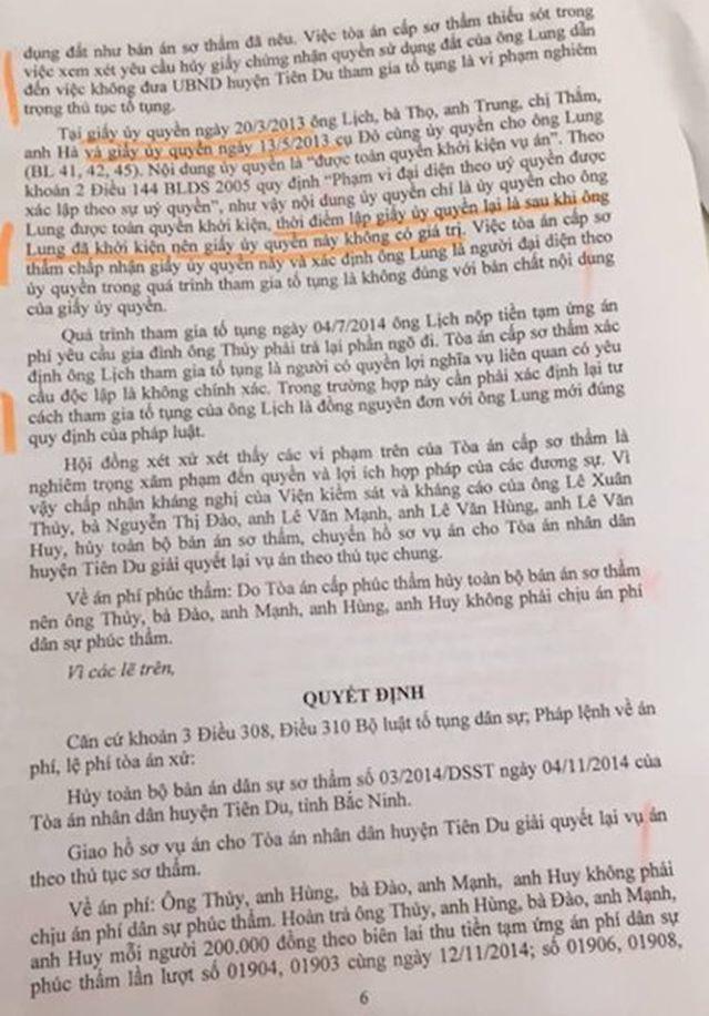 Bắc Ninh: Tòa án, chính quyền vênh quan điểm, người dân nín thở chờ phán quyết - 2