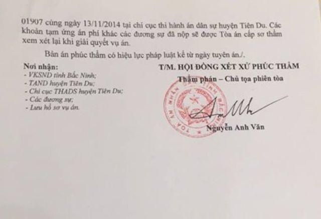 Bắc Ninh: Tòa án, chính quyền vênh quan điểm, người dân nín thở chờ phán quyết - 3