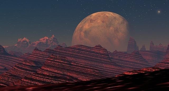 Miệng núi lửa rộng 1500 km trên sao Hỏa có thể có sự sống - 1
