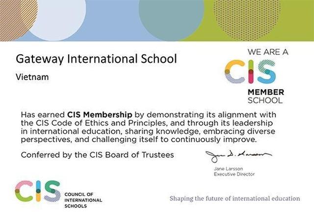 Gateway trở thành thành viên của Hội đồng các trường Quốc tế CIS - 1