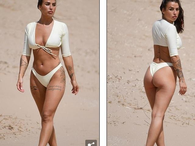 Jenny Thompson gợi cảm với bikini trắng - 5