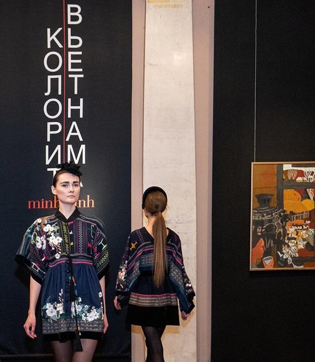 Rực rỡ áo dài Việt Nam, những mẫu thời trang đỉnh cao thu hút công chúng Nga - Ảnh minh hoạ 8