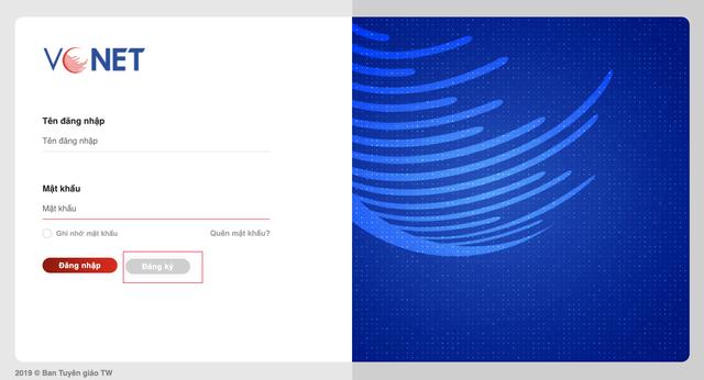 Hướng dẫn đăng ký sử dụng hệ thống thông tin điện tử tuyên giáo - 1