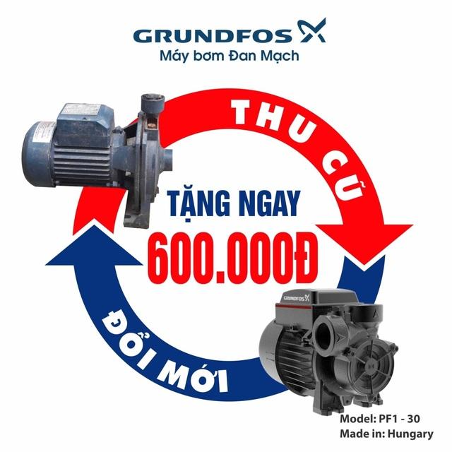 Cơ hội sở hữu sản phẩm chính gốc Châu Âu - máy bơm nước Grundfos Đan Mạch - 1