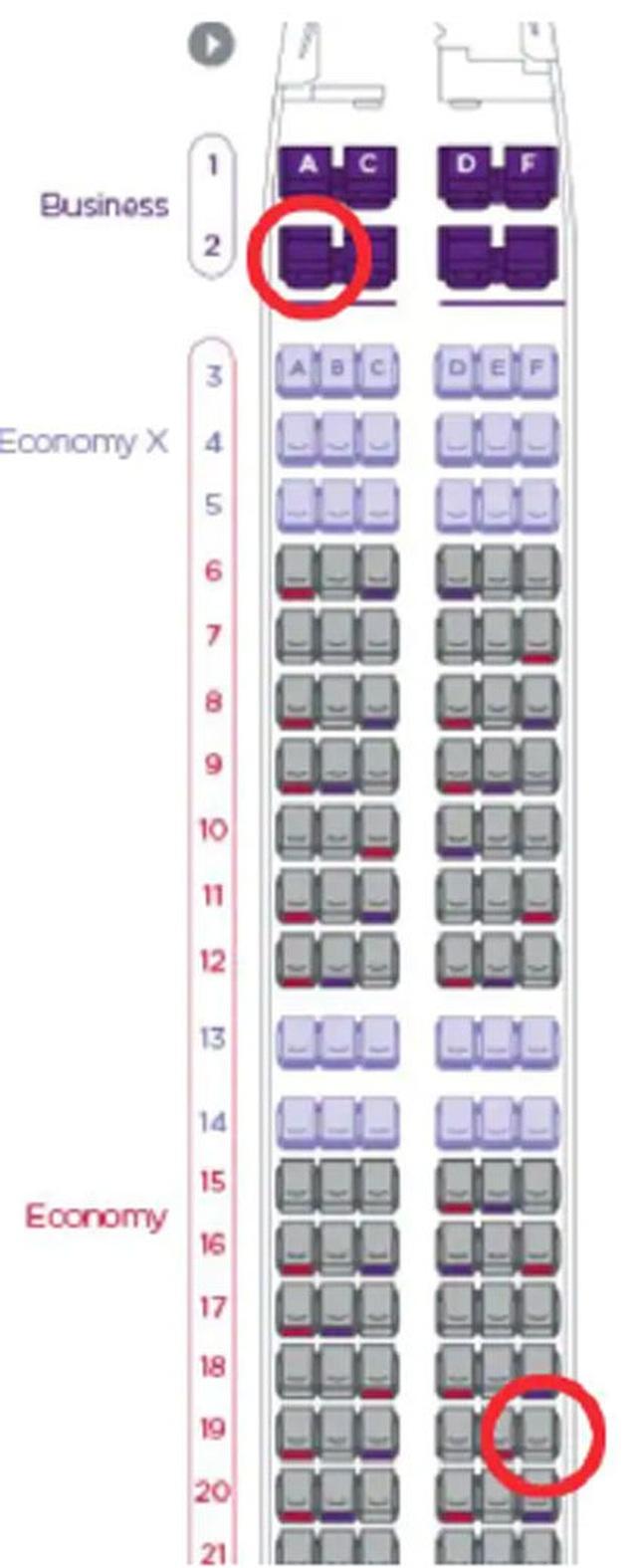 Đâu là hai vị trí ghế ngồi được hành khách đặt nhiều nhất trên máy bay? - 2