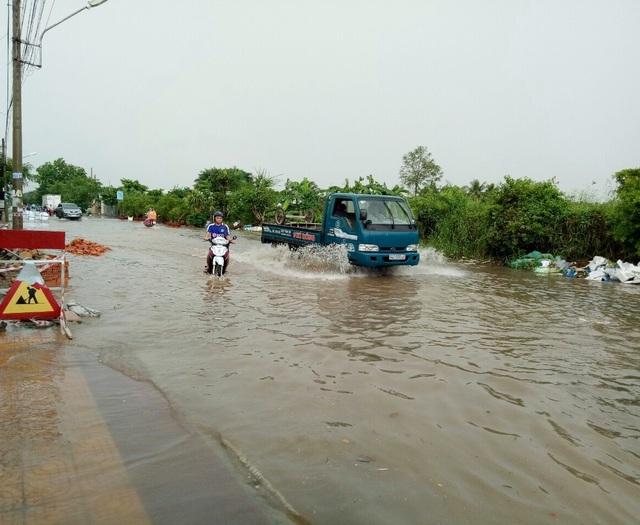 Đường phố Bạc Liêu biến thành sông sau trận mưa lớn - 8