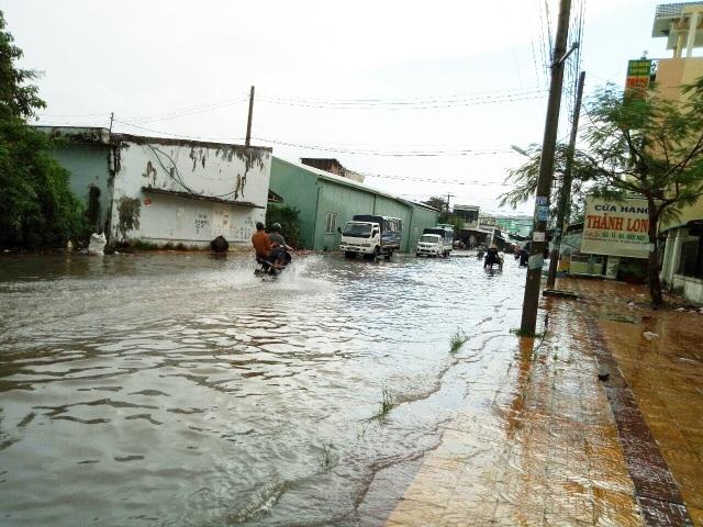 Đường phố Bạc Liêu biến thành sông sau trận mưa lớn - 9