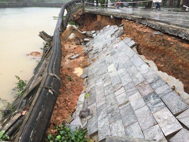 Chi hơn 3 tỷ đồng sửa chữa khẩn cấp kè hồ Thành cổ Quảng Trị - 1