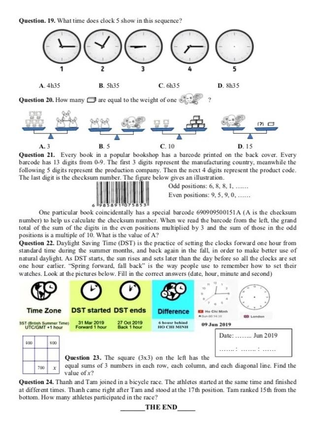 Nóng: TPHCM công bố đề và đáp án khảo sát lớp 6 chuyên Trần Đại Nghĩa - 6