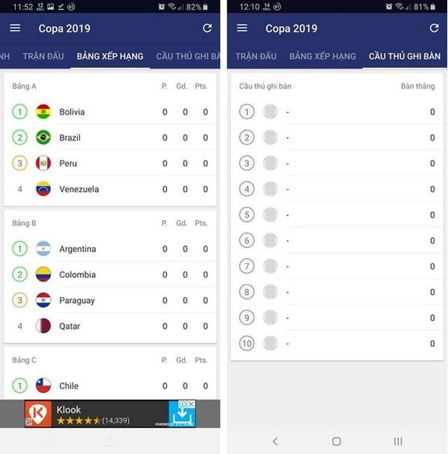 """Ứng dụng lịch thi đấu thông minh Copa America 2019 dành cho các """"tín đồ"""" bóng đá - 4"""